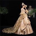 【期間限定!マスクプレゼント中】貴族 衣装 王族服 カラードレス 貴族 ステージ衣装としても最適 お姫様ドレス 中世…