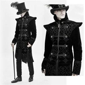 メンズファッション ヴィンテージ パンク&ゴシック 中世 17世紀 仮面舞踏会 男性用 コスチューム ブラック 紳士のコート 舞台衣装 演劇オペラ声楽 貴族服装 d9341c0x0d4