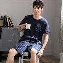 パジャマ メンズ 半袖 綿 夏用 上下セット ナイトウエア ルームウエア パンツ 部屋着 韓国風 パジャマ 大きいサイズ …
