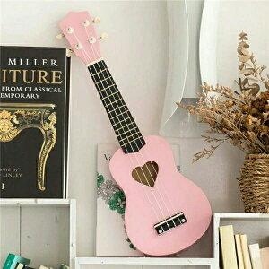 【期間限定!マスクプレゼント中】プレゼント ウクレレ 玩具 子供の誕生日 プレゼント 初心者モデル 楽器 持ち運び 知育玩具 写真 撮影 ギター ピンクおもちゃ クリスマス ギフト おしゃれ