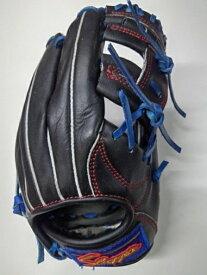 カスタマイズグラブ 久保田スラッガー 軟式少年KSN-J6 ブラックXブルー 湯揉み型付け込み