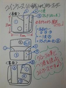 グラブ革製 カラフルなコインケース(大)!