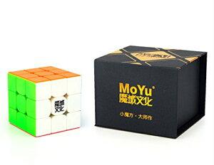 MoYu 3x3x3 Weilong GTS2M マジックキューブ スピードパズルキューブ ブライトステッカーレス