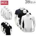 【あす楽】 [全品最大15%OFFクーポン]ディーゼル DIESEL Tシャツ メンズ 半袖 クルーネック トップス インナー ワンポイント ティーシャツ 3枚セット 00SJ5L 0TANL Umtee Randal [glv15]