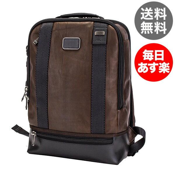 トゥミ Tumi ドーバー バックパック リュック レザー 92682DB2 ダークブラウン Alpha Bravo Dover Backpack メンズ A4サイズ ビジネス バッグ デイパック [glv15]