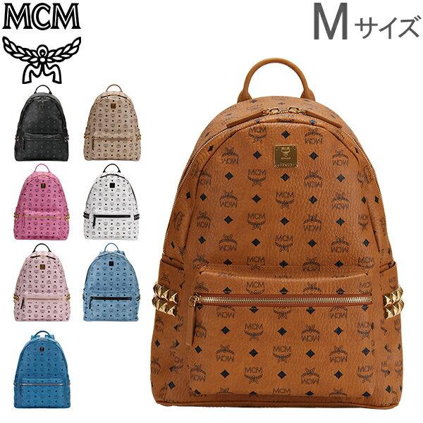 [全品最大15%OFFクーポン]MCM エムシーエム リュックサック スターク バックパック ミディアム Stark Backpack Medium レザー 牛革 [glv15]