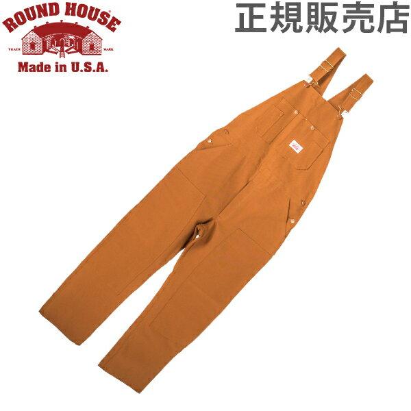 【全品15%OFFクーポン】ラウンドハウス Round House #83 デニム オーバーオール ブラウンダック メンズ ブラウン Men's Brown Duck Bib Overalls ビブ 正規販売店 [glv15]