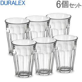 Duralex デュラレックス ピカルディー PICARDIE ◆360ml 6個セット◆カフェグラススタイリッシュクリアグラス!強化耐熱ガラス製 (透明コップ・タンブラー) あす楽