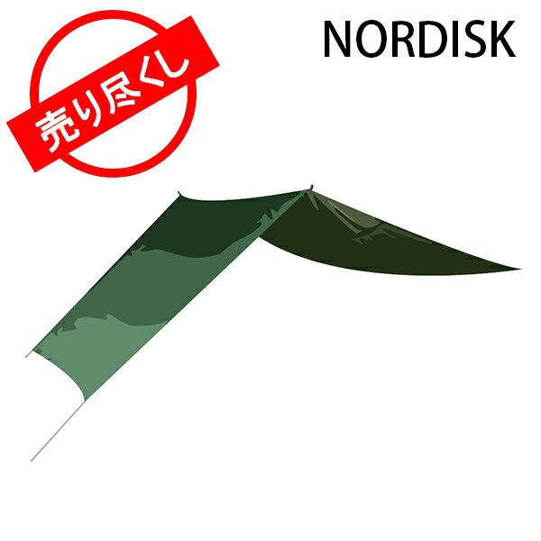 赤字売切り価格 ノルディスク NORDISK タープ ヴォス 14 SI 117007 フォレストグリーン Voss 14 SI Forest Green - incl. guy-ropes キャンプ 雨よけ 日よけ アウトドア