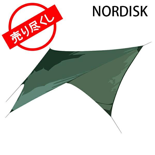赤字売切り価格 ノルディスク NORDISK タープ ヴォス ダイヤモンド SI 117009 フォレストグリーン Voss Diamond SI Forest Green - incl. guy-ropes キャンプ 雨よけ 日よけ