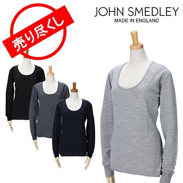 【赤字売切り価格】ジョンスメドレー ニット S〜L 長袖 スクープネック セーター お洒落 ファッション デザイン John Smedley FORMOSA WOMENS アウトレット
