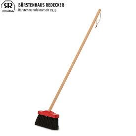 Redecker レデッカー 赤いヘッドのミニデッキブラシ (馬毛) 010614 あす楽