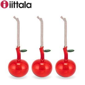 イッタラ iittala オーナメント 3個セット ガラスアップル 1055140 レッド りんご おしゃれ かわいい 北欧 インテリア フィンランド ツリー あす楽