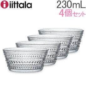 イッタラ ボウル カステヘルミ 230ml 4個セット 0.23L 北欧ブランド インテリア 食器 1個入 クリア 64-1192-000940-2 iittala KASTEHELMI Bowl