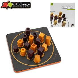 ギガミック Gigamic クアルト ミニ QUARTO MINI ボードゲーム GDQA 3.421271.300441 木製 テーブルゲーム おもちゃ 知育 玩具 子供 脳トレ ゲーム フランス あす楽