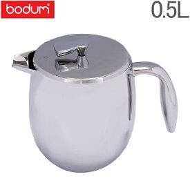 bodum ボダム Bodum Columbia コロンビア French press coffee maker double wall 17oz (4 Cups) ダブルウォール コーヒープレス 0.5 L Chrome クローム 11055-16 北欧 あす楽