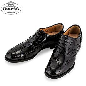 チャーチ Church's レディース レザーシューズ Burwood 3W バーウッド ウィングチップ レースアップ オックスフォードシューズ DE0032 ブラック Leather Black 【コンビニ受取可】