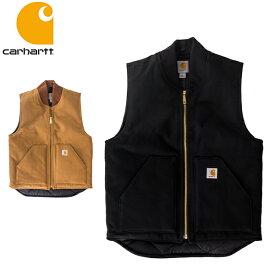 【5%還元】【あす楽】カーハート Carhartt ベスト V01 ダックベスト メンズ コットン 裏地キルティング 中綿 Duck Vest - Men's ワークベスト プレゼント ギフト