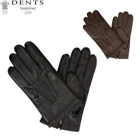 デンツ Dents 手袋 メンズ Shaftesbury 手ぶくろ シープスキン スマホ対応 上質 革 レザー 羊革 カシミア ヘアシープ グローブGloves (M) 5-9201 あす楽
