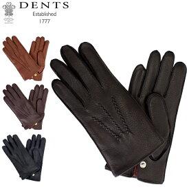 デンツ Dents 手袋 メンズ レザー グローブ Windsor ディアスキン 鹿革 ウィンザー革 ファー 防寒 上質 15-1544 Gloves あす楽