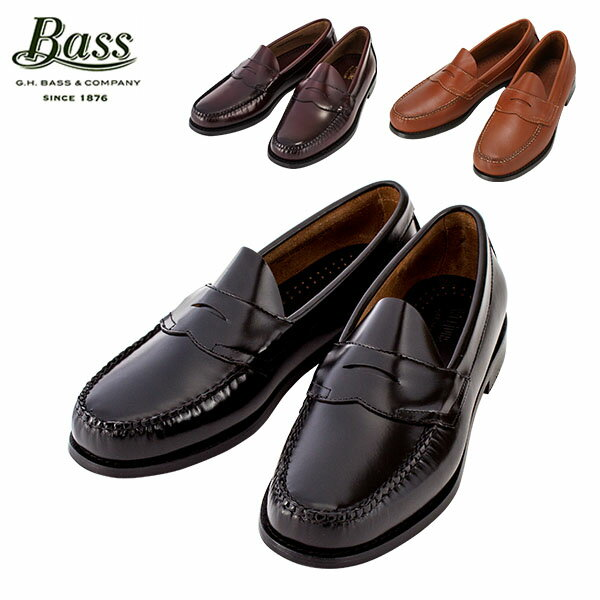 【GWもあす楽】 G.H.BASS G.H.バス Penny Loafer (LOGAN) ペニーローファー (ローガン) ブラック/バーガンティ/タン ローファー 革靴 母の日 母の日ギフト