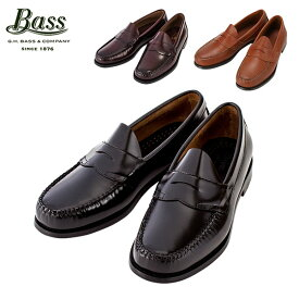 【あす楽】 G.H.BASS G.H.バス Penny Loafer (LOGAN) ペニーローファー (ローガン) ブラック/バーガンティ/タン ローファー 革靴【5%還元】