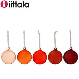 イッタラ Iittala クリスマス オーナメント 5個セット グラスボール レッド 1026604 Glass ball 5set Red 北欧 インテリア ガラス フィンランド ツリー