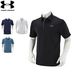 アンダーアーマー Under Armour メンズ ポロシャツ ゴルフ テックポロ 1290140 ゴルフウェア ポロ 半袖ポロ スポーツ スポーツウェア ラッピング対象外 5%還元 あす楽