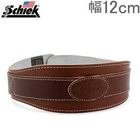 シーク Schiek リフティングベルト Model L2004 2ピン レザー パワーベルト 幅12cm ブラウン 筋トレ ウエイトトレーニング バーベル あす楽