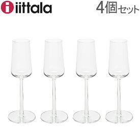 イッタラ iittala エッセンス シャンパングラス 210mL 4個セット Essence Champagne Glass 4pcs 1009139 / 6428501120579 シャンパン フルート 北欧 食器 あす楽