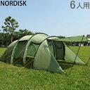 【全品あす楽】ノルディスク レイサ6 テント 6人用 タープ アウトドア キャンプ ダスティーグリーン 122032 NORDISK L…