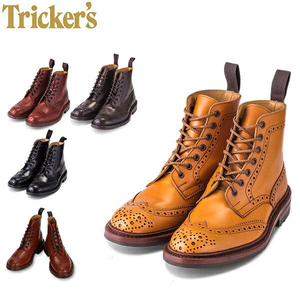 【GWもあす楽】 トリッカーズ Tricker's カントリーブーツ ストウ モルトン ダイナイトソール ウィングチップ 5634 Stow Malton メンズ ブーツ ブローグシューズ レザー 本革 母の日 母の日ギフト