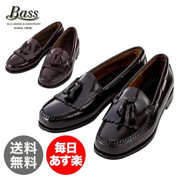 G.H.BASS G.H.バス LAYTON レイトン ブラック/バーガンティ ローファー 革靴