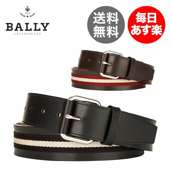 バリー Bally ベルト メンズ TIANIS-40 618722 ACC BELTS レザー 本革 キャンバス ストライプ