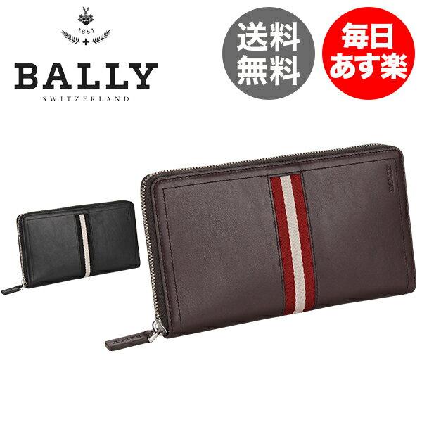 バリー Bally ラウンドファスナー 長財布 TEVIN 61673 TRAINSPOTTING 財布 レザー 本革 メンズ