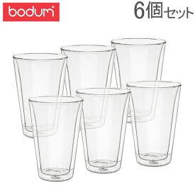 ボダム Bodum グラス キャンティーン ダブルウォールグラス 400mL 6個セット 耐熱 保温 保冷 10110-10-12 Double Wall Cooler Canteen