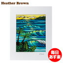 Heather Brown ヘザーブラウン Open Edition Matted Art Prints アートプリント Sunset Swell サンセットス...
