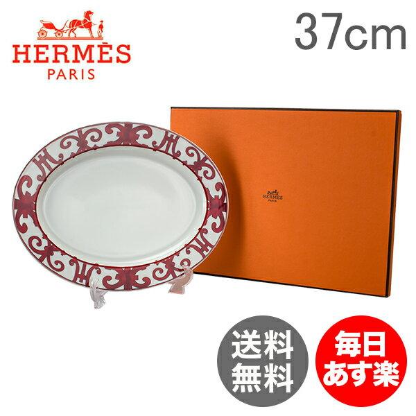 【4時間限定 全品最安値に挑戦】 Hermes エルメス Balcon du Guadalquivir Small oval platter スモール オーバルプラター 皿 37cm 011027P