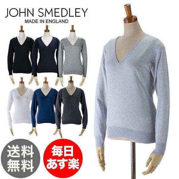 ジョンスメドレー John Smedley Vネック セーター 長袖 プトネイ WOMEN PUTNEY シーアイランドコットン レディース