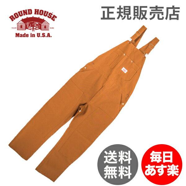 ラウンドハウス Round House #83 デニム オーバーオール ブラウンダック メンズ ブラウン Men's Brown Duck Bib Overalls ビブ 正規販売店