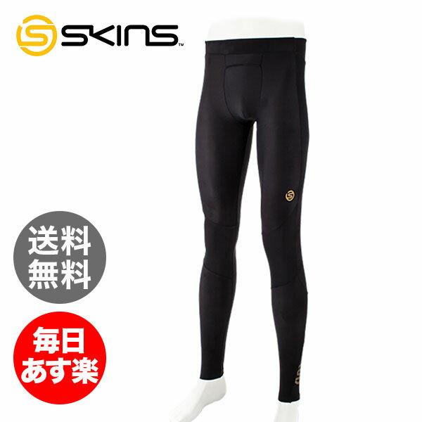 スキンズ Skins メンズ A400 ロングタイツ ZB9932001 コンプレッション タイツ インナー スパッツ スポーツウェア トレーニング 筋トレ ブラック