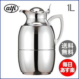 由阿尔菲阿尔菲珠宝 chrome 1.0 L 572000100 玻璃桌面热水瓶壶真空热