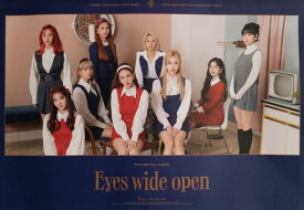 TWICE 2ND ALBUM EYES WIDE OPEN OFFICIAL POSTER - PHOTO CONCEPT RETRO