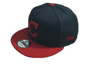 NEW ERA ニューエラMLB メジャーリーグ新作スナップバックキャップ 帽子9FIFTY MLB BASICCLEVELAND INDIANSクリーブランド インディアンスHOME ネイビーレッド