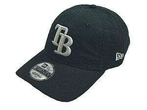 NEW ERA ニューエラMLB メジャーリーグ新作ストラップバックキャップ 帽子9TWENTY CORE CLASSIC TWILLTAMPA BAY RAYSタンパベイ レイズBLACK WHITE ブラックホワイト