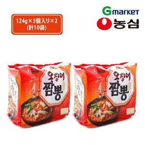 【NONGSHIM】【農心】イカチャンポン/ Squid Cham-pong Noodle Ramyun/124g/インスタントラーメン/インスタントチャンポン/韓国チャンポン/ちゃんぽん/辛いチャンポン【楽天海外直送】