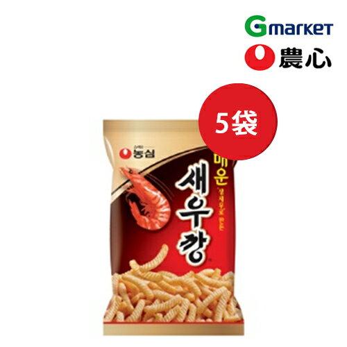 【NONGSHIM】【農心】辛いセウカン(えびせん)/Shrimp Snack Hot/90gx5袋/スナック/辛い風味/お菓子/セウカン/えびせん/韓国食品/辛口【楽天海外直送】