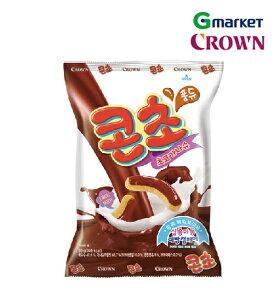【CROWN】【クラウン】コンチョ/Chocolate snack/66gx5袋/チョコクリーム/フォンデュ形式/スナック/チョコレート韓国食品/ヘーゼルナッツ/お菓子/甘口【楽天海外直送】