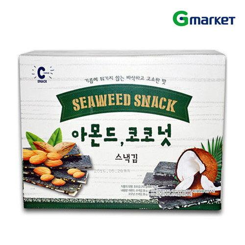 【SNACK】【スナック】昔の味アーモンドココナッツスナック海苔/Almond Coconut Snack laver/35gx6袋入り/スナック/海苔/クリスピー/韓国食品/韓国スナック【楽天海外直送】