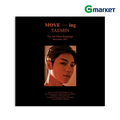 【K-POP】【SHINee】【TAEMIN】【テミン】TAEMIN ー 2ND ALBUM REPACKAGE[MOVE-ing]/テミン - 2集アルバム リパッケージ [MOVE-ing]【楽天海外直送】